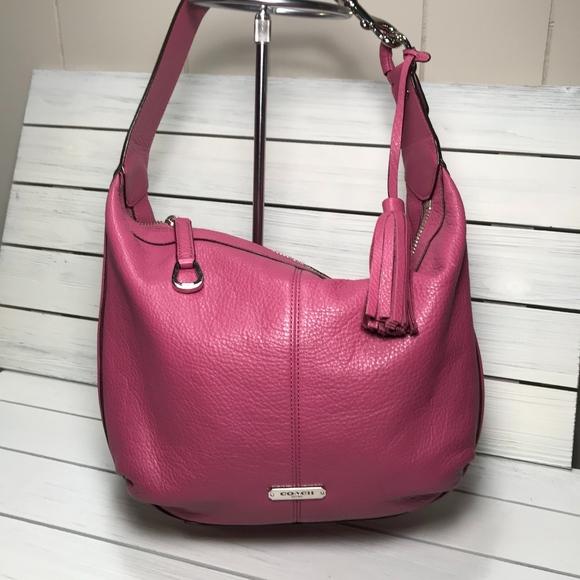 30e9c65fa1 Coach Handbags - COACH Hobo with Coordinating Leather Tassel